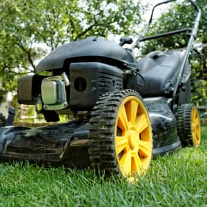 Lawnmower, front view