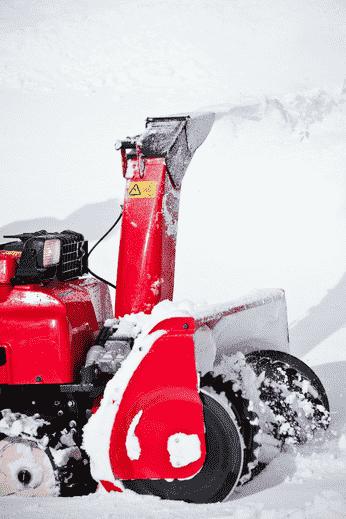 Snowblower removing snow